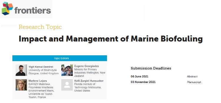 Special Issue: Impact and Management of Marine Biofouling